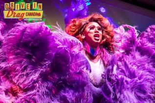 Drive-In Drag  Sofonda Purple Feathers.j