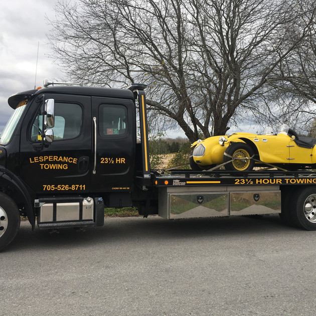 We take extra care when towing special cars.
