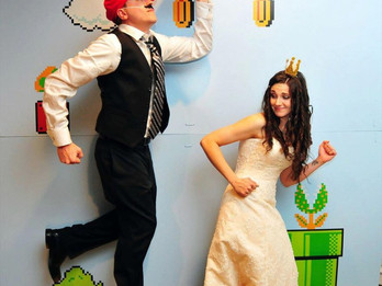 Super Mario themed DIY Wedding