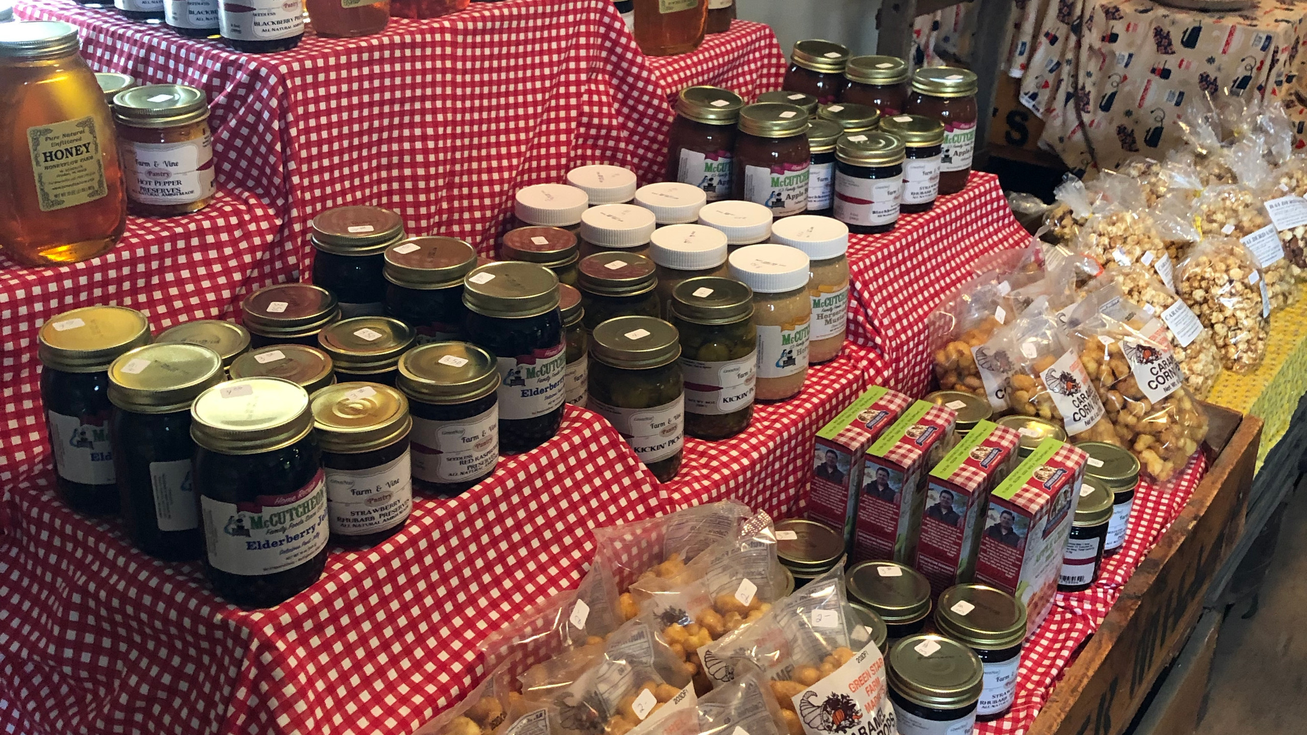 delicious jams and treats
