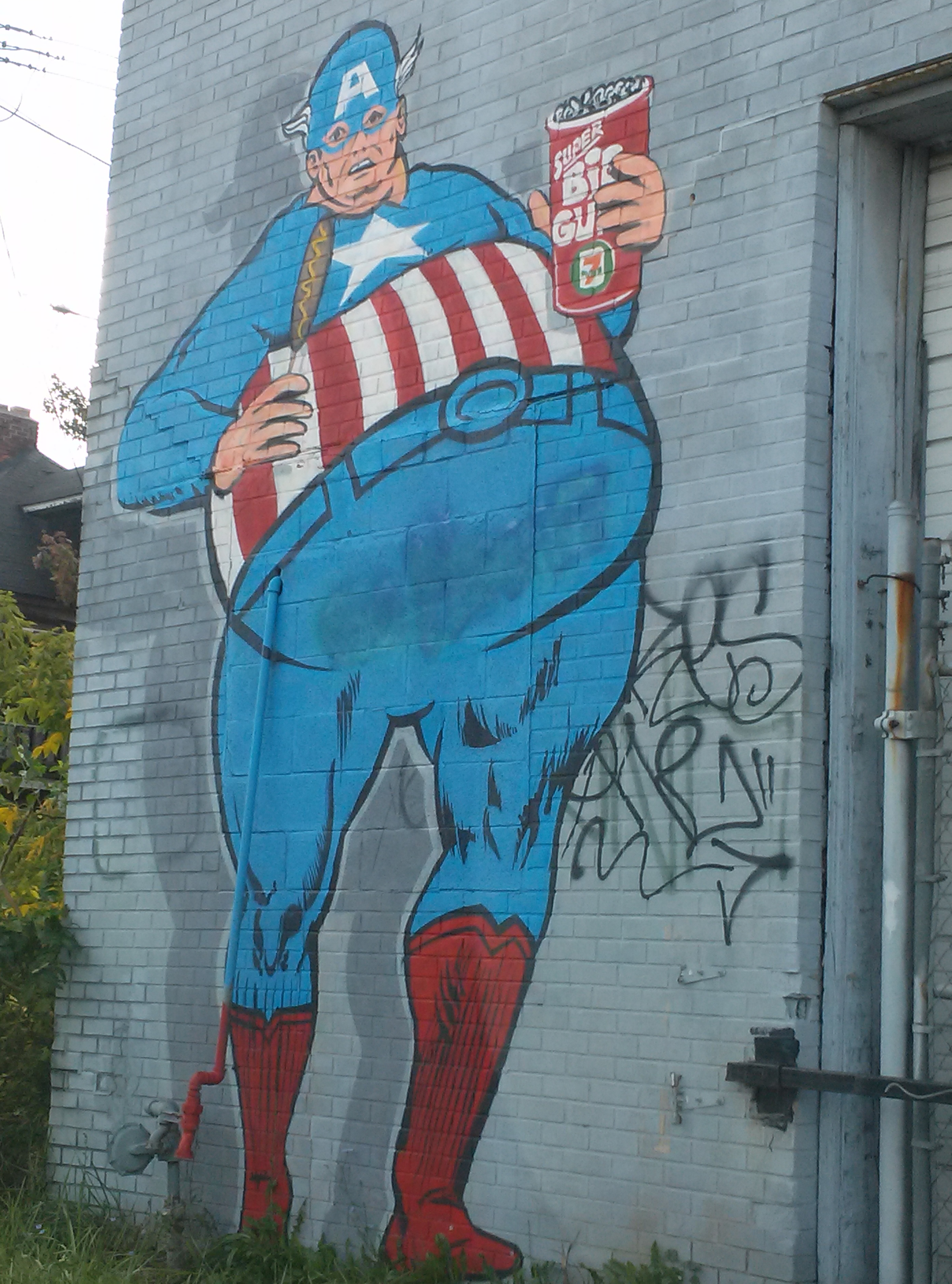 Captain America in Detroit