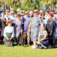 The swimsuit crowd!  Check out the costumes!