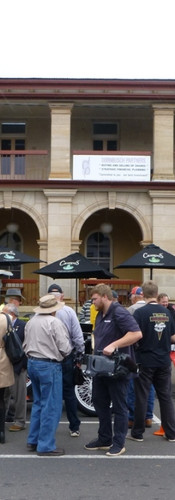 And it's done!  The journey ended outside the old Toowoomba Post Office, as it did in 1918.