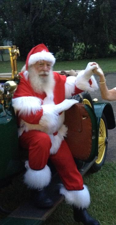 President Ronnie greets Santa