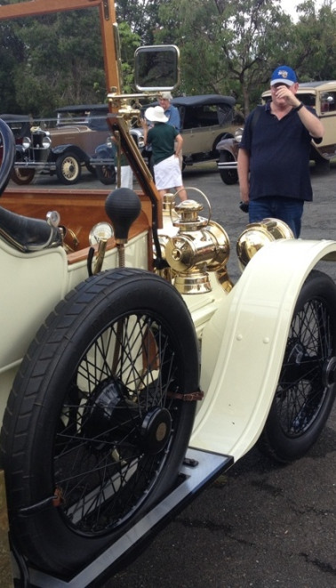 Talbot Type M with admirers