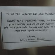 Farewell message from the Wallace Caravan Park