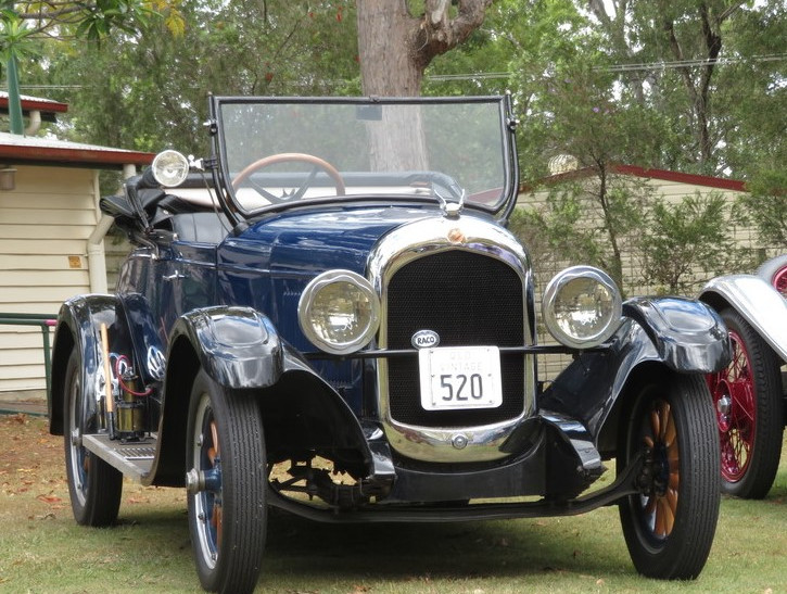 The legendary Alex Gow visited in his Holden-bodied 1927 Series 50 Chrysler