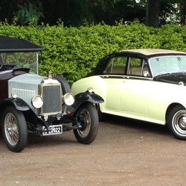 14/40 Vauxhall and the Rolls-Royce Silver Shadow II contrast vintage and post-war styles