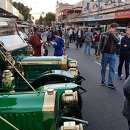 The crowd enjoying our cars