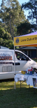 A Coffee Truck and the  Oxley-Sherwood Lions added local flavour.