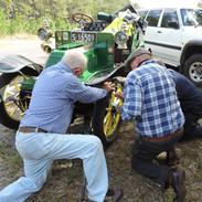 Tire team hard at it