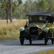 1915 Napier doing miles in style
