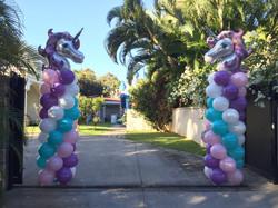 Unicorn Balloon Entrance Display