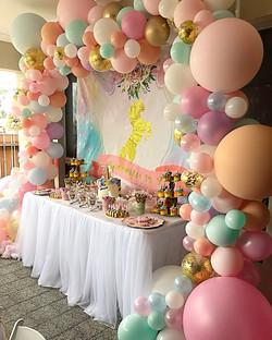 Unicorn Cake Table Balloon Display