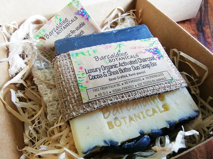 Soap Gift Box with Organic Soap Pouch