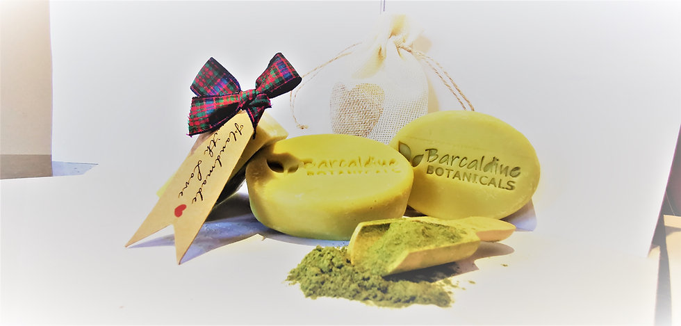 Luxury Organic French Green Clay Hair and Body Bar