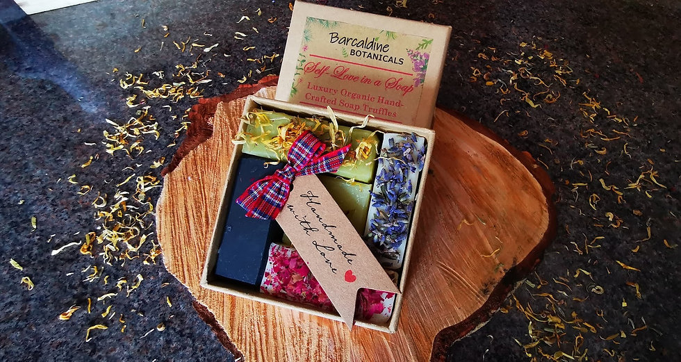 Luxury Organic Soap Truffle Gift Box