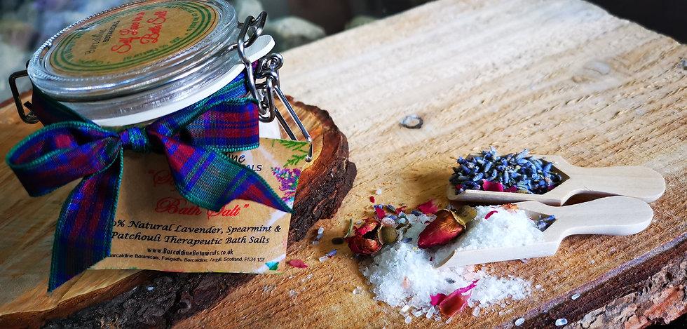 Lavender, Spearmint and Patchouli Therapeutic Bath Salts