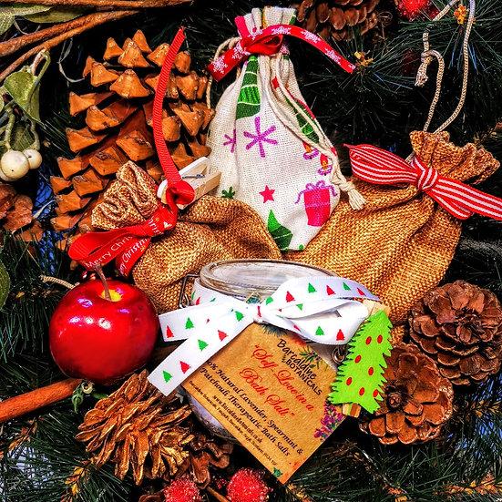 Christmas Lavender, Spearmint and Patchouli Therapeutic Bath Salts