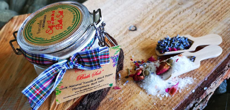Vanilla and Black Pepper Natural Bath Salts