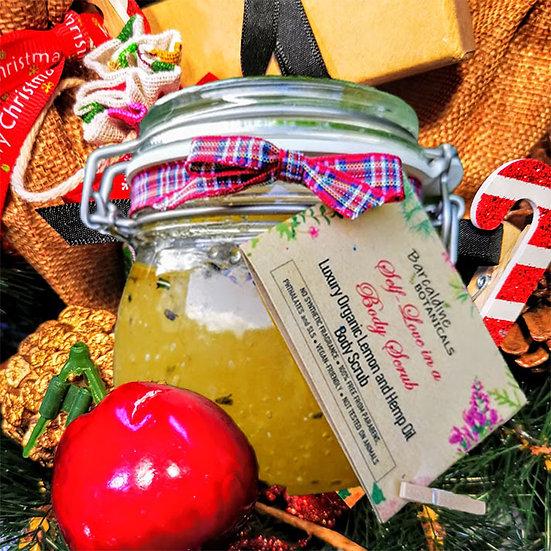 Christmas Lemon and Hemp Oil Body Scrub