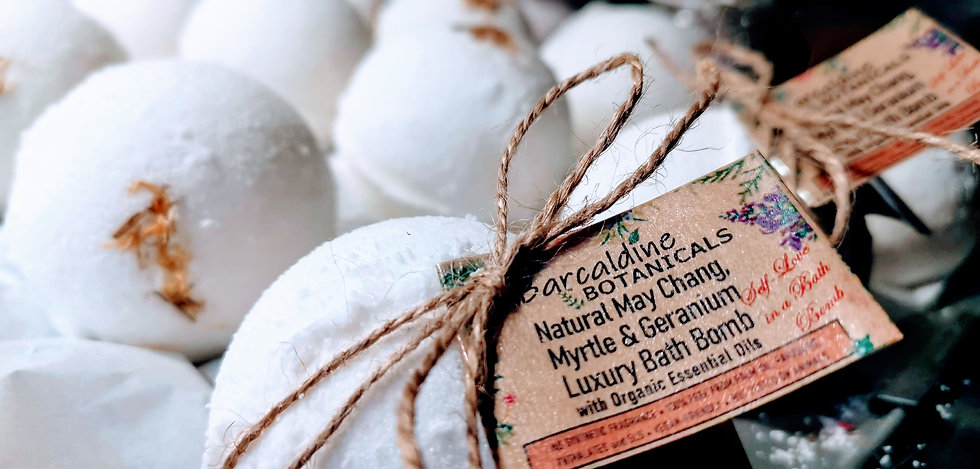 May Chang, Myrtle and Geranium Natural Bath Bombs