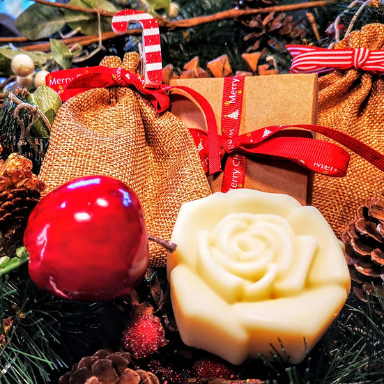 Christmas Luxury Organic Cocoa and Shea Butter Soap Gift Box