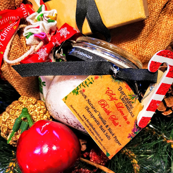 Christmas Vanilla and Black Pepper Therapeutic Bath Salts