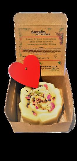 Luxury Organic Cocoa and Shea Butter Single Soap Gift Box