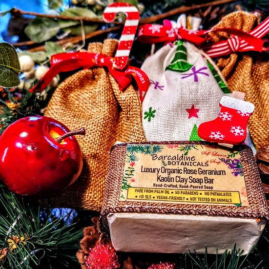 Christmas Kaolin Clay Face and Body Bar