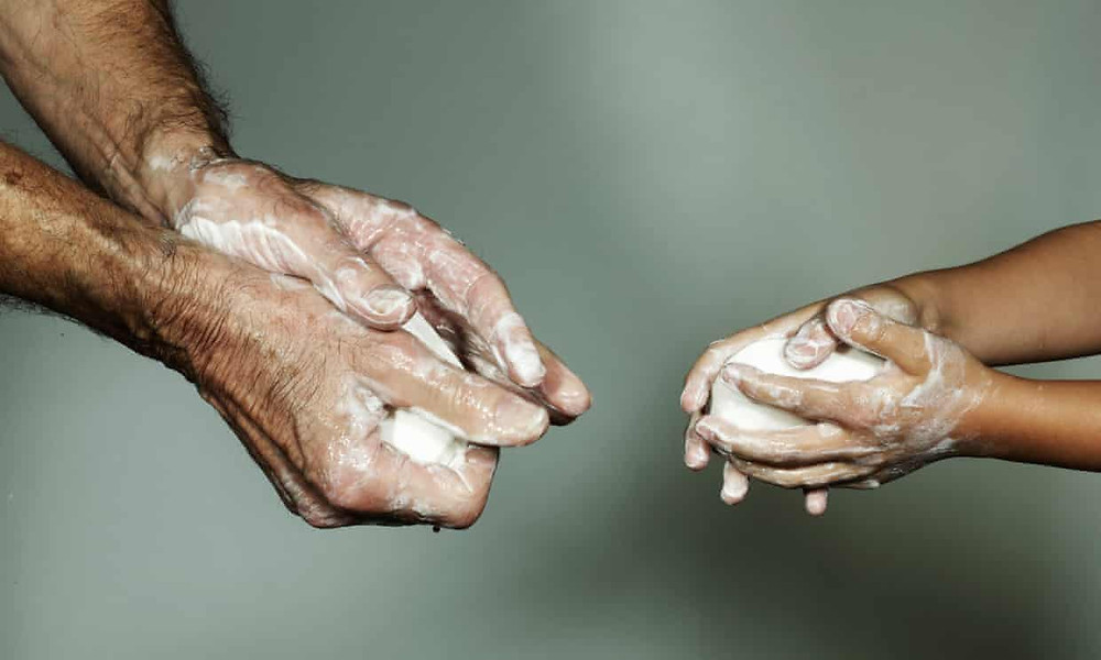 Handwashing with soap - a highly efficient way of killing the virus when it's on your skin
