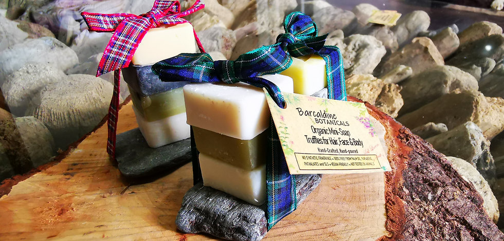 Luxury Organic Mini-soap Stacks for Hair, Face and Body