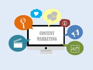 Billede af forskellige komponenter af content marketing