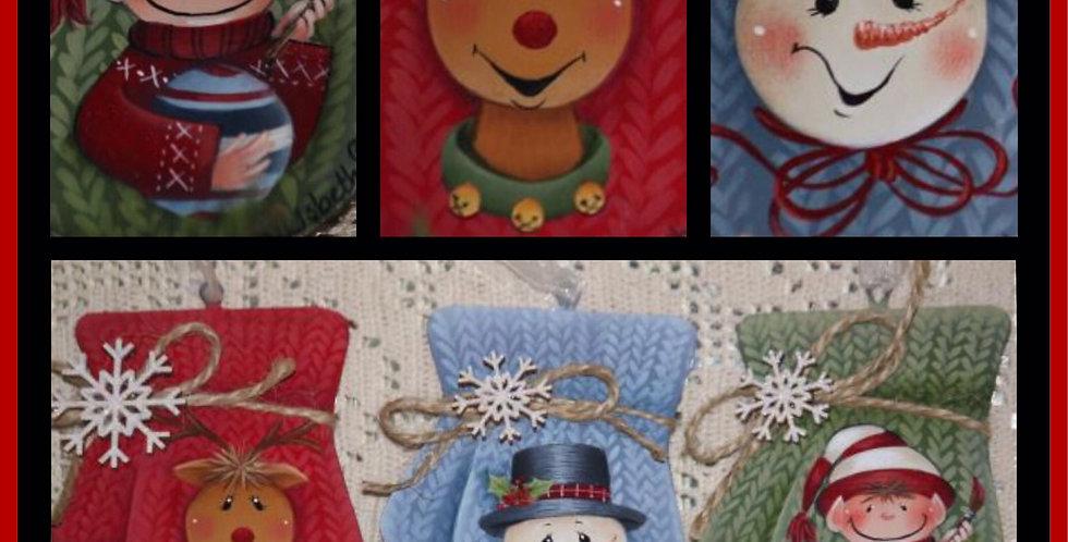 Mitten Trio Ornaments