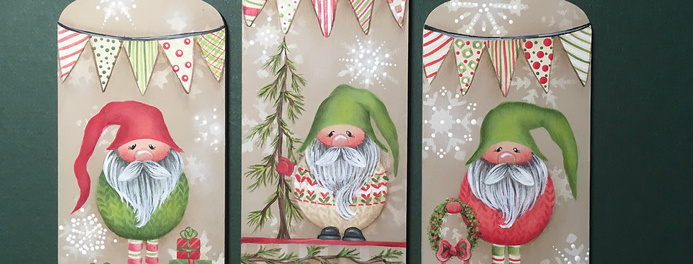Gnomes for the Holidays! Ornament Set