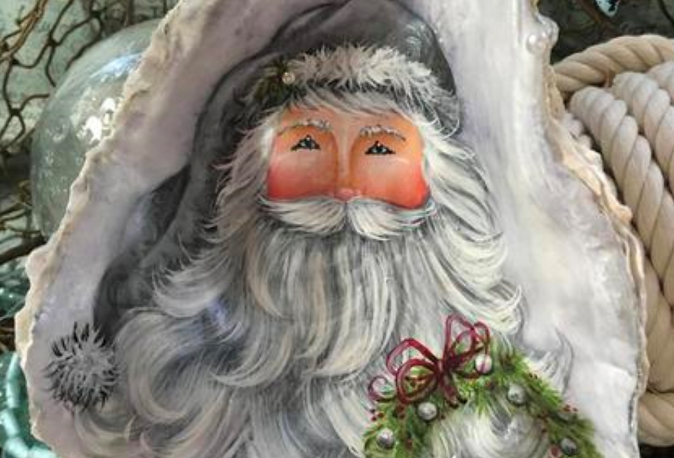 Silver Santa on an OysterShell