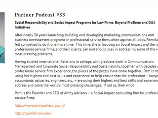 A conversation about Social Impact and Sustainability for Law Firms