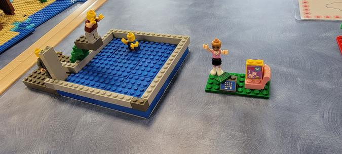 LEGO Swimming Pool Creation