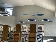Modern lighting in the Adult Services Non-Fiction section