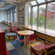Children's Room Window View and Seating Area