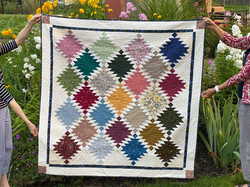 Quilt donated for Open House Raffle at the Library