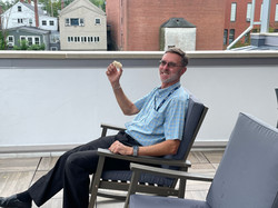 Enjoying  the new rocking chairs funded by IMLS and NHSL