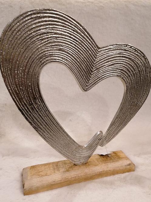 Herz  Aluminium/Holz
