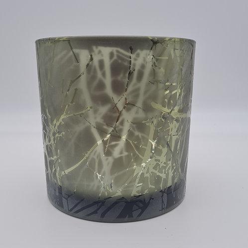 Windlichtglas grün