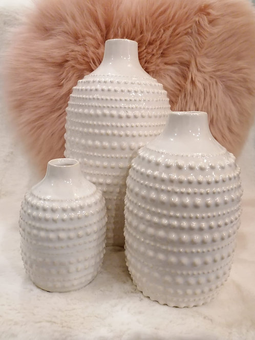 Vase weiß  S