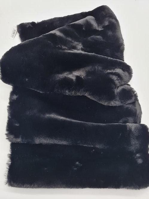 Tischläufer plüsch schwarz