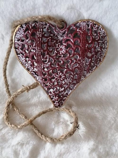 Herz Hänger rosa