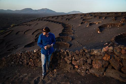 Vincente in his vineyard, Lanzarote, the Canary Islands, 2018