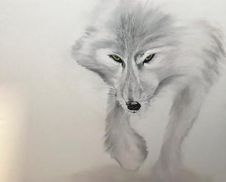 Inspiré du loup arctique de Vincent Munier