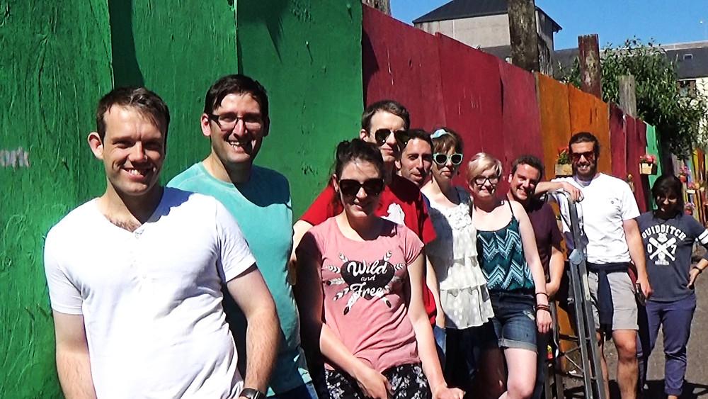 Alan Hurley with fellow Reimagine Volunteers on Coleman's Lane